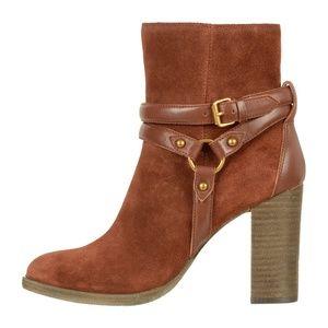 UGG Dandridge Brown Suede Harness Ankle Boots
